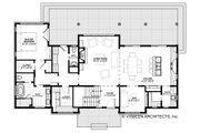Farmhouse Style House Plan - 4 Beds 3.5 Baths 2740 Sq/Ft Plan #928-306 Floor Plan - Main Floor
