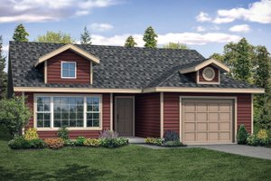 Ranch Exterior - Front Elevation Plan #124-1140