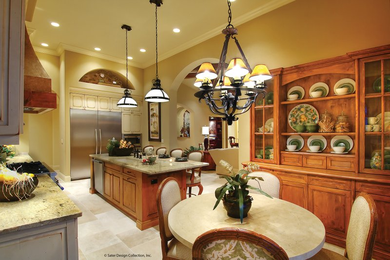 Mediterranean Interior - Kitchen Plan #930-13 - Houseplans.com