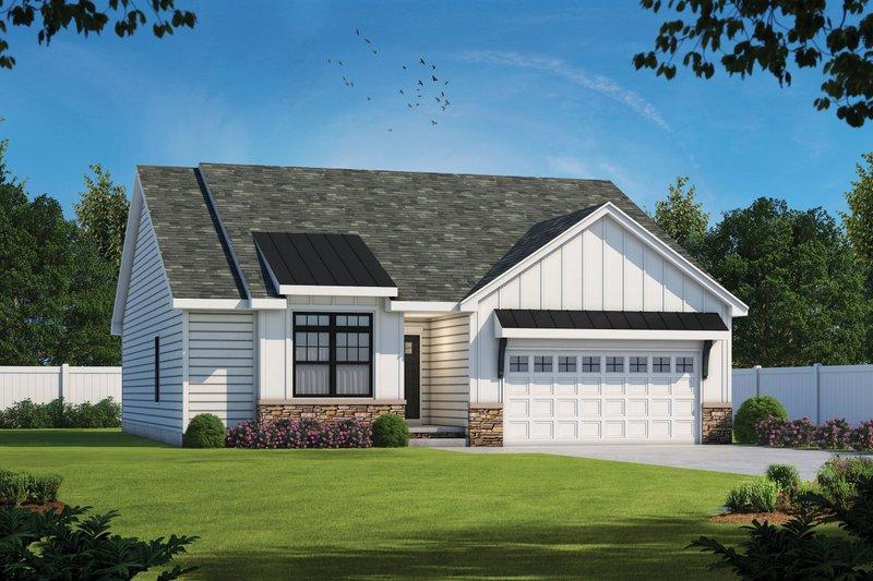 House Plan Design - Farmhouse Exterior - Front Elevation Plan #20-2354