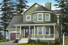 Dream House Plan - Farmhouse Exterior - Front Elevation Plan #23-863