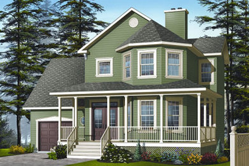 Farmhouse Exterior - Front Elevation Plan #23-863 - Houseplans.com