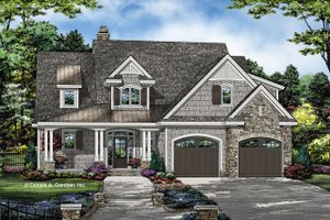 Country Exterior - Front Elevation Plan #929-1075