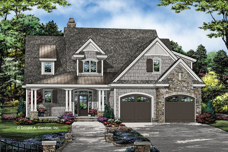 House Plan Design - Country Exterior - Front Elevation Plan #929-1075