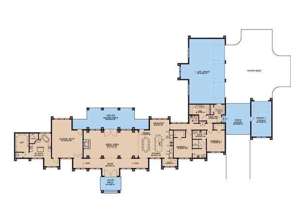 Contemporary Floor Plan - Main Floor Plan #923-188