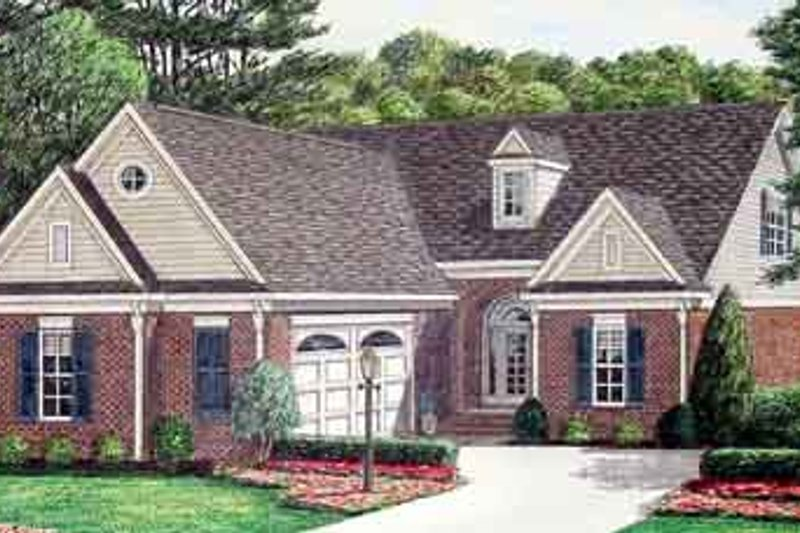 Southern Exterior - Front Elevation Plan #34-184 - Houseplans.com