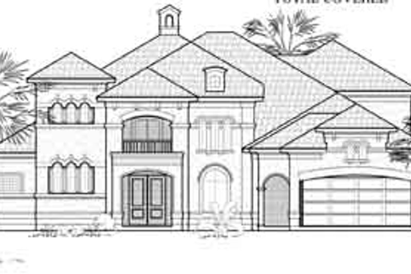 European Exterior - Front Elevation Plan #61-388