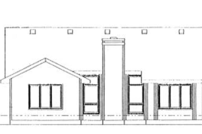 Traditional Exterior - Rear Elevation Plan #20-109 - Houseplans.com