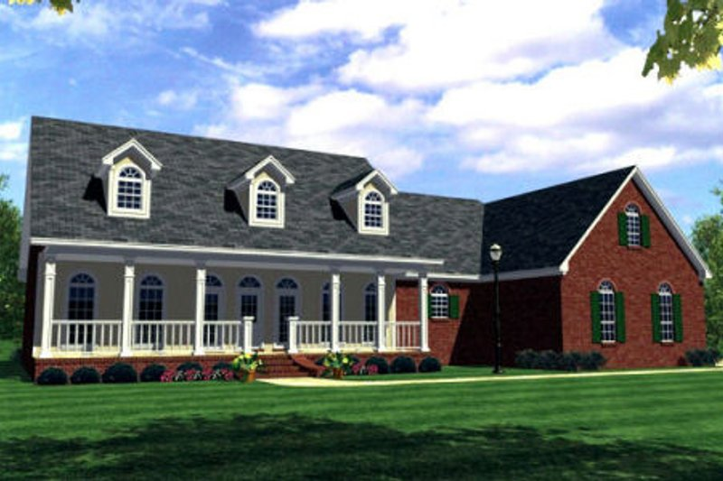 Traditional Exterior - Front Elevation Plan #21-116 - Houseplans.com