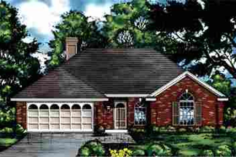 Traditional Exterior - Front Elevation Plan #40-166 - Houseplans.com