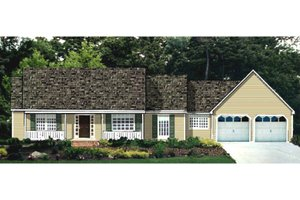 Country Exterior - Front Elevation Plan #3-341