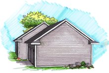 Ranch Exterior - Rear Elevation Plan #70-1023
