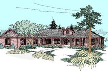 Ranch Exterior - Front Elevation Plan #60-452