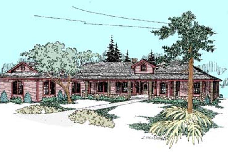 Ranch Exterior - Front Elevation Plan #60-452 - Houseplans.com