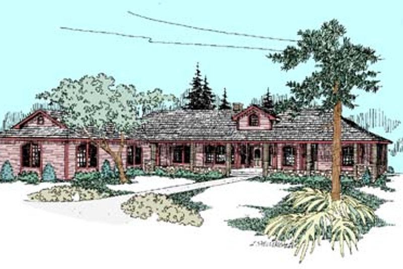 Dream House Plan - Ranch Exterior - Front Elevation Plan #60-452