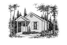 House Plan Design - Cottage Exterior - Other Elevation Plan #22-126