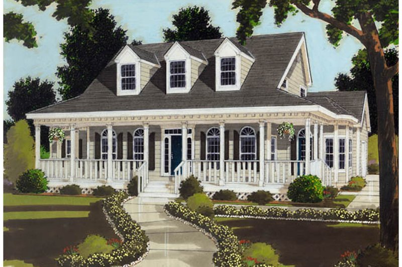 Dream House Plan - Southern Exterior - Front Elevation Plan #3-190