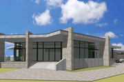 Modern Style House Plan - 5 Beds 3 Baths 5470 Sq/Ft Plan #549-17 Exterior - Front Elevation