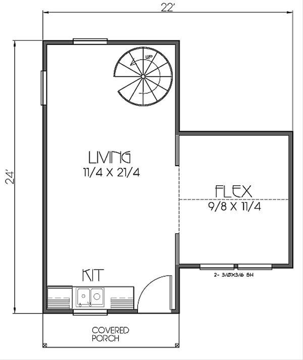 Craftsman Floor Plan - Main Floor Plan Plan #423-48