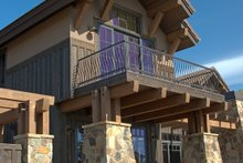 Craftsman style home, covered patio