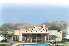 Adobe / Southwestern Exterior - Rear Elevation Plan #929-683