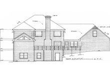 European Exterior - Rear Elevation Plan #10-249