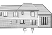 Craftsman Style House Plan - 3 Beds 2.5 Baths 1906 Sq/Ft Plan #46-898 Exterior - Rear Elevation