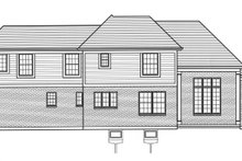 Craftsman Exterior - Rear Elevation Plan #46-898