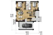 Contemporary Style House Plan - 2 Beds 1 Baths 927 Sq/Ft Plan #25-4590 Floor Plan - Main Floor Plan