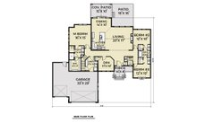 Craftsman Floor Plan - Main Floor Plan Plan #1070-75