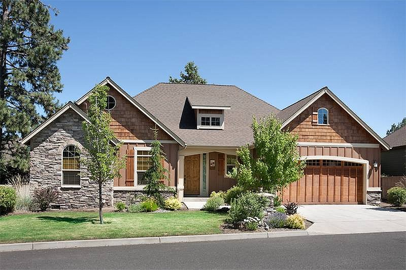 Architectural House Design - Craftsman style house plan, front