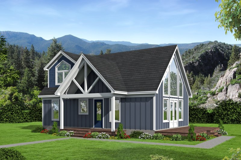 Architectural House Design - Country Exterior - Front Elevation Plan #932-39