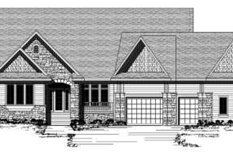 Traditional Style House Plan - 2 Beds 2.5 Baths 2278 Sq/Ft Plan #51-257 Exterior - Front Elevation