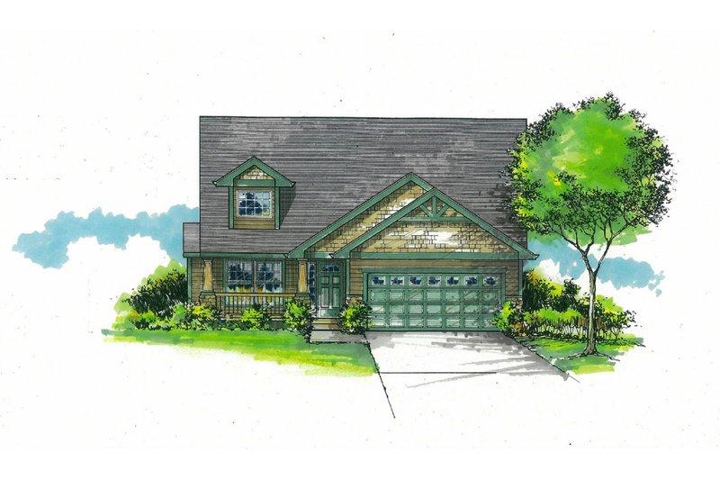 Craftsman Exterior - Front Elevation Plan #53-588