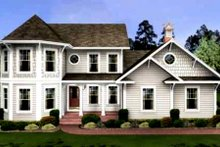 Dream House Plan - Southern Exterior - Front Elevation Plan #56-235