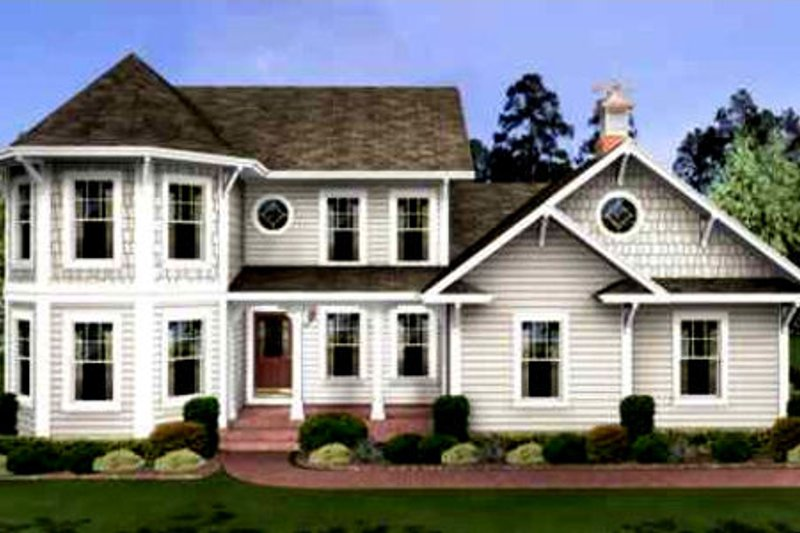 Southern Exterior - Front Elevation Plan #56-235