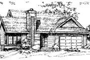Ranch Style House Plan - 2 Beds 2 Baths 1231 Sq/Ft Plan #320-311 Exterior - Front Elevation