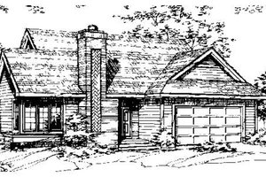 Ranch Exterior - Front Elevation Plan #320-311