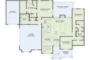 European Style House Plan - 3 Beds 2.5 Baths 2252 Sq/Ft Plan #17-2536 Floor Plan - Main Floor Plan
