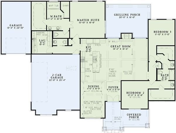 European Floor Plan - Main Floor Plan Plan #17-2536