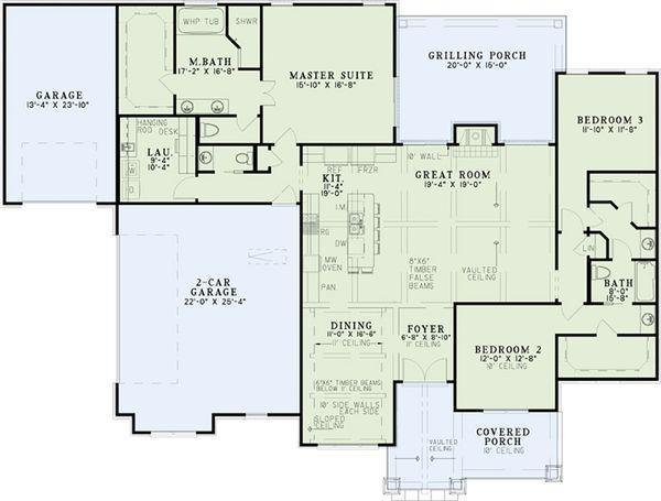 European Floor Plan - Main Floor Plan #17-2536