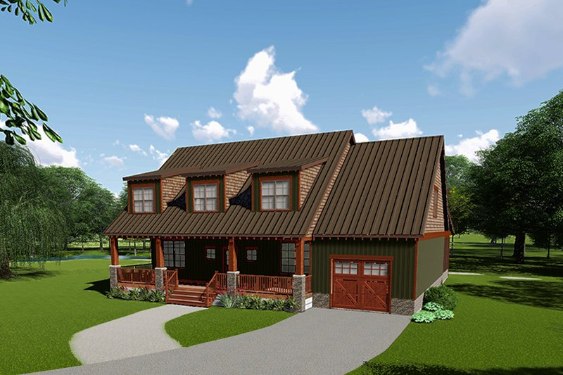 Craftsman Exterior - Front Elevation Plan #923-113