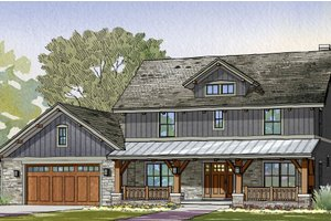 Dream House Plan - Craftsman Exterior - Front Elevation Plan #901-123