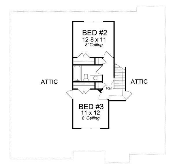 Cottage Floor Plan - Upper Floor Plan #513-2079