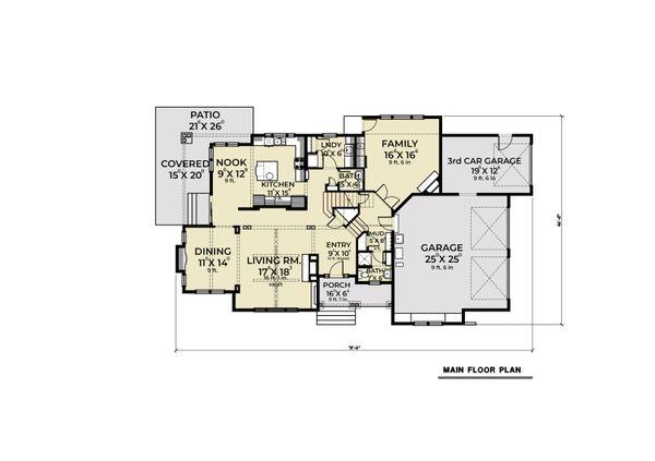 Dream House Plan - Cottage Floor Plan - Main Floor Plan #1070-107