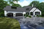European Style House Plan - 4 Beds 3.5 Baths 3068 Sq/Ft Plan #923-139 Exterior - Front Elevation