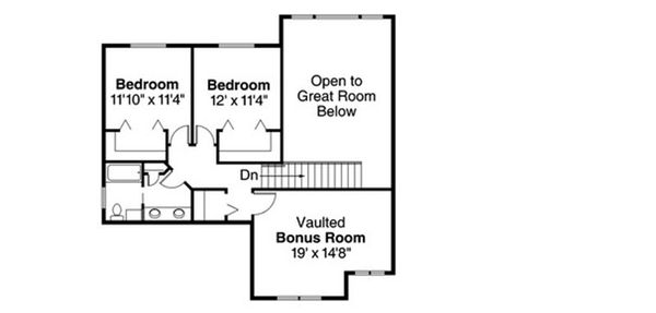 Craftsman Floor Plan - Upper Floor Plan Plan #124-819