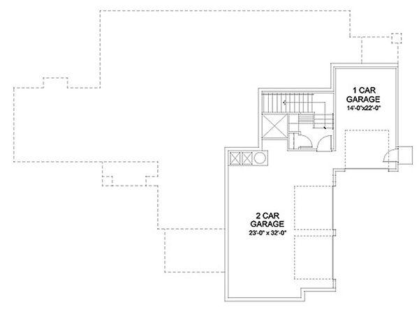 Mediterranean Floor Plan - Lower Floor Plan Plan #490-31
