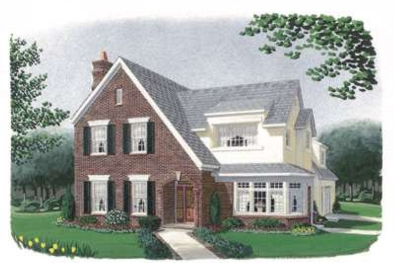European Exterior - Front Elevation Plan #410-234