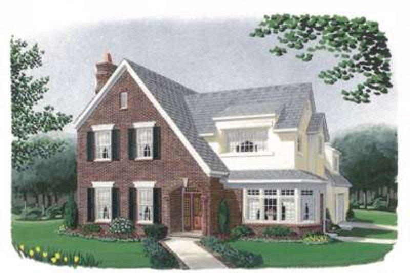 European Exterior - Front Elevation Plan #410-234 - Houseplans.com